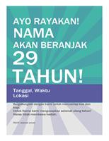 Poster Ulang Tahun