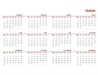 Kalender global sepanjang tahun