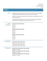 Resume fungsional (Desain sederhana)
