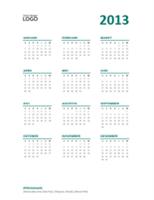 Kalender sekilas 2013 (format S-M)