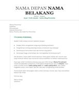 Surat lamaran kerja resume (kronologis)
