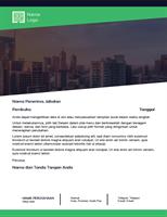 Surat bisnis (desain Hutan Hijau)