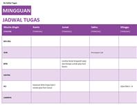 Daftar tugas mingguan
