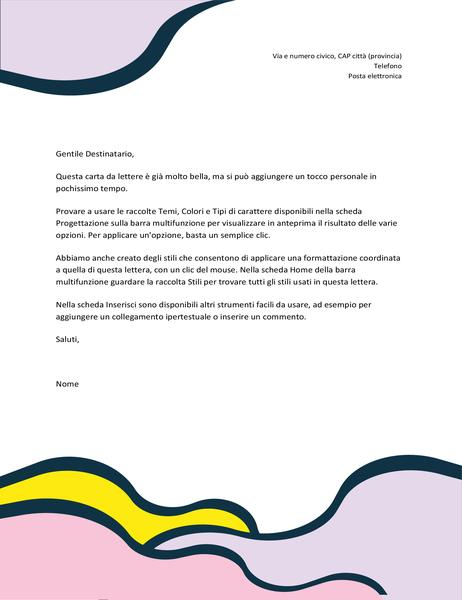 Carta intestata con forme organiche