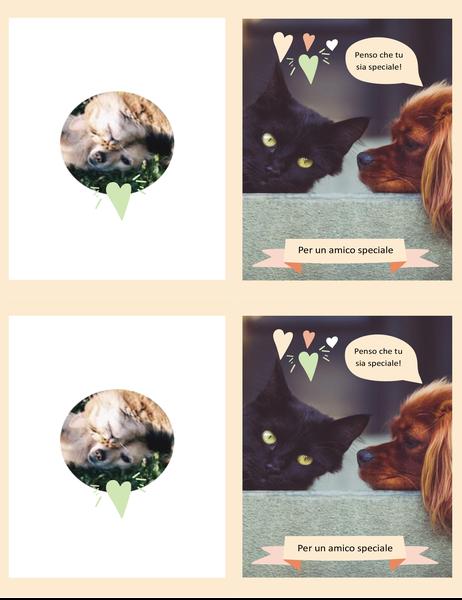 Biglietto per qualsiasi occasione con gattini e cuccioli