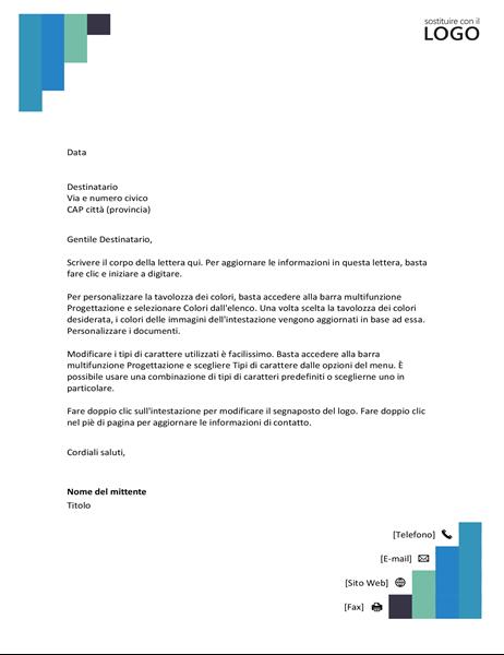 Carta intestata Gradini blu
