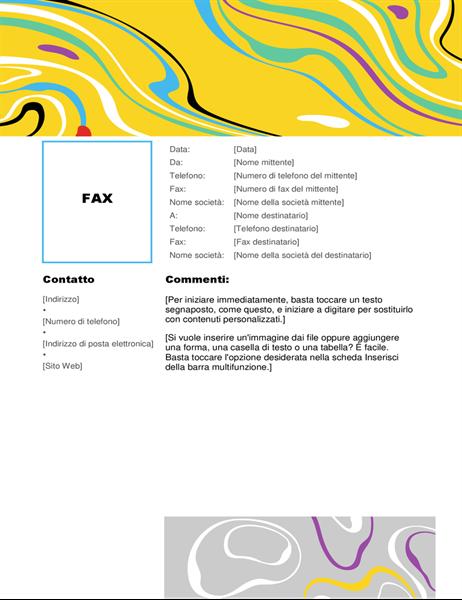 Copertina fax con vortice di colori