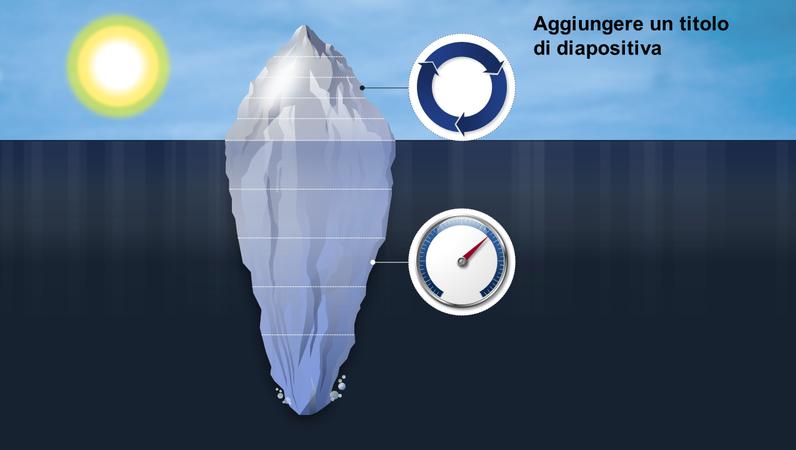Elemento grafico di un iceberg