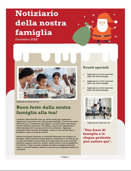 Notiziario familiare di Natale