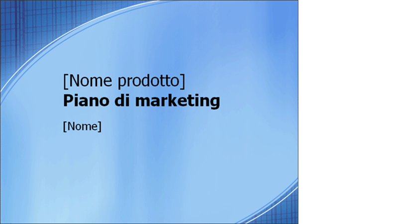 Presentazione Piano di marketing