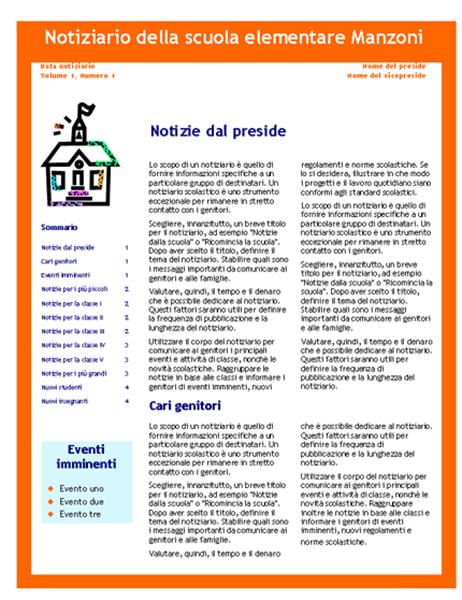 Notiziario scolastico (3 colori, 4 pagine)
