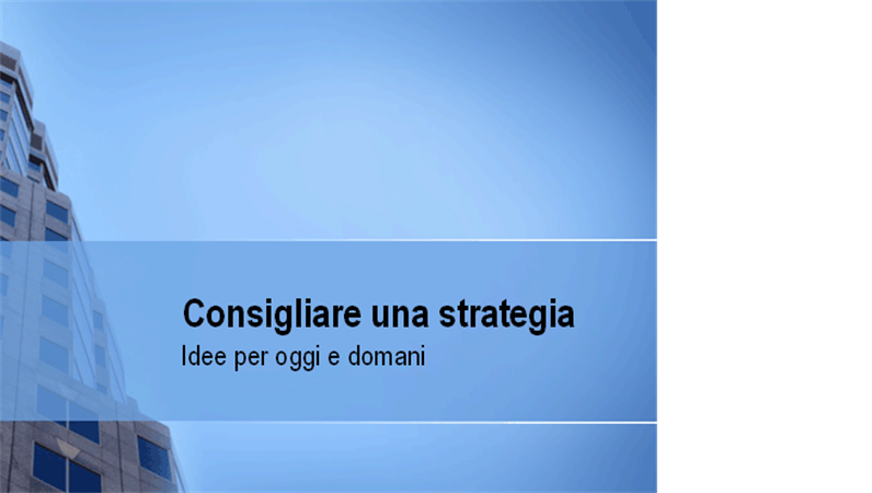 Presentazione dei consigli di strategia