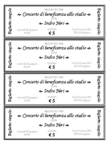 Biglietti per eventi