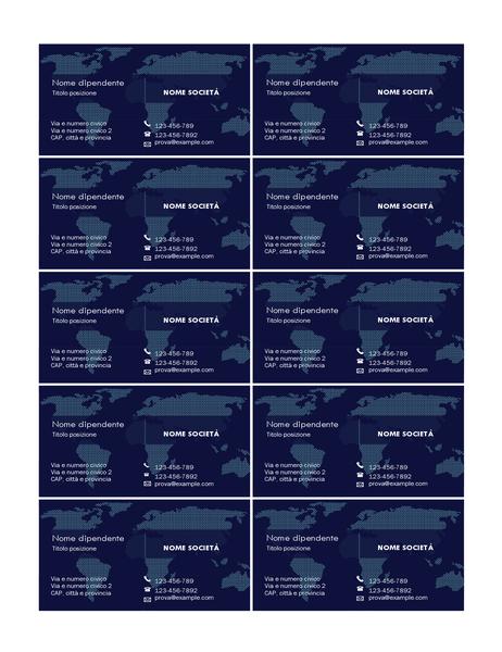 Biglietti da visita con mappa (10 per pagina)