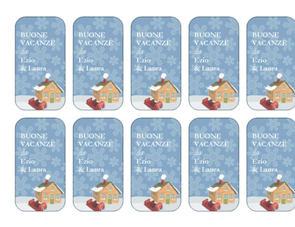 Cartoncini per festività (ambientazione invernale, compatibili con Avery 5871, 8871, 8873, 8876 e 8879)