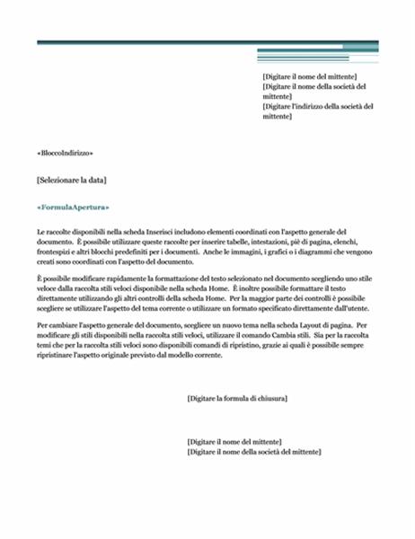 Lettera stampa unione (tema Tramonto)