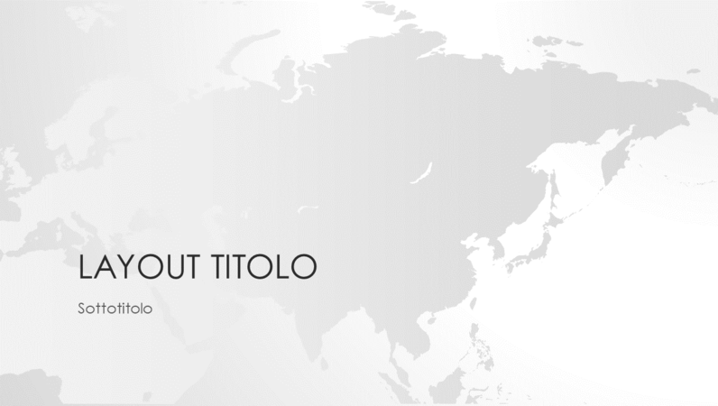 Serie Cartine del mondo, presentazione del continente asiatico (widescreen)