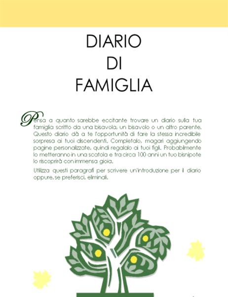 Libro della storia famigliare