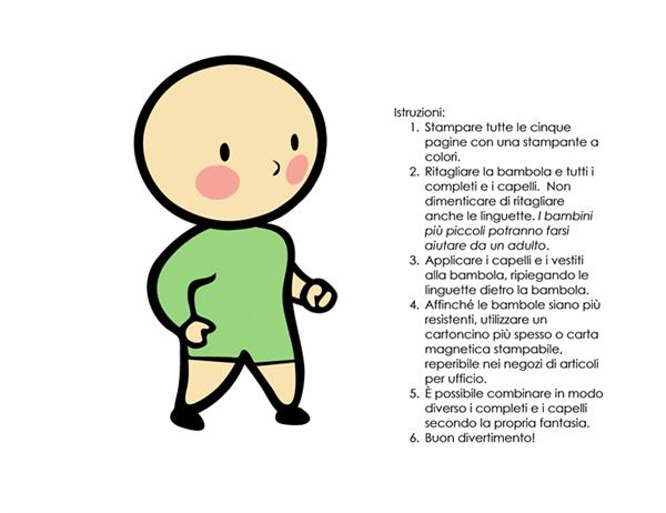 Bambole di carta (bambino, set 3)