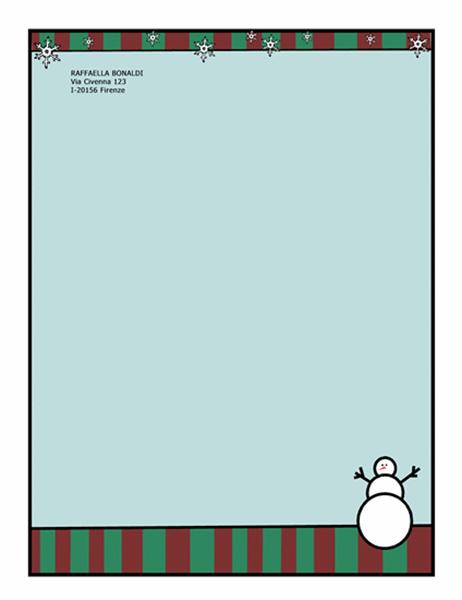 Elementi decorativi per le feste (con pupazzo di neve)