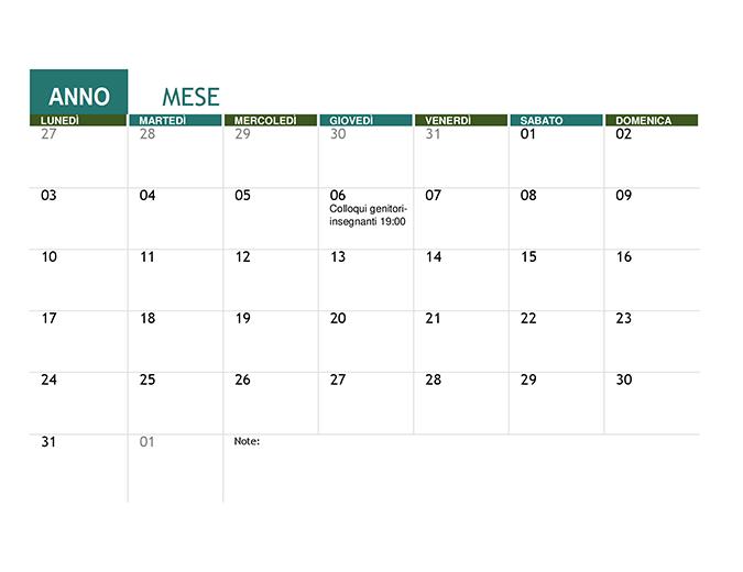 Calendario Anno 1980.Calendario Accademico