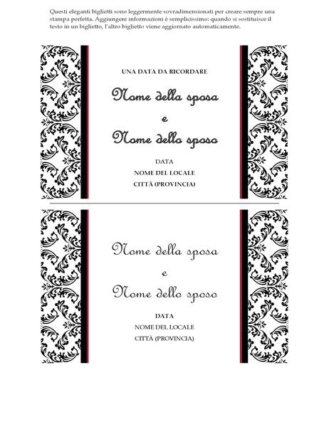 Biglietto di invito a matrimonio (schema Matrimonio in bianco e nero)