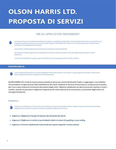 Proposta di servizi
