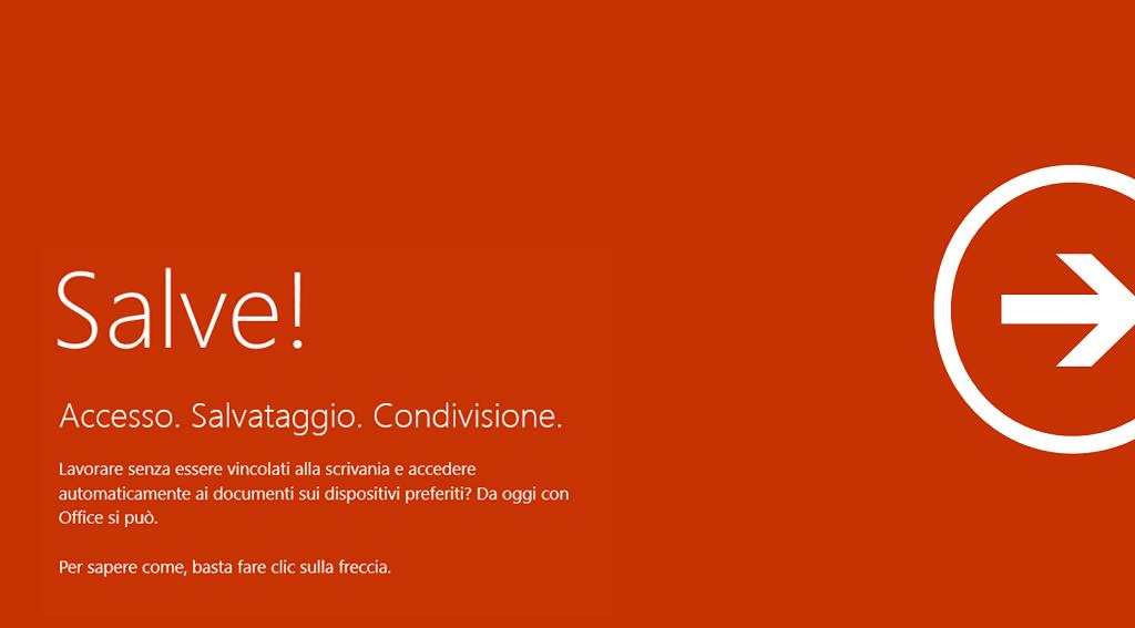 Benvenuto in Office Consumer - Accesso, salvataggio, condivisione