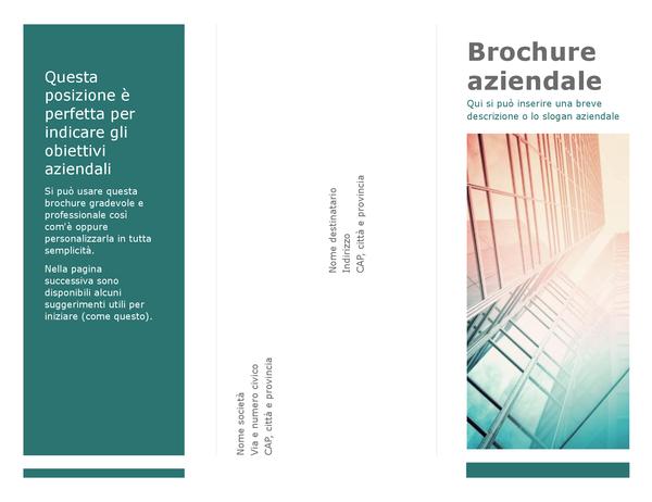 Brochure pieghevole in tre parti (blu)
