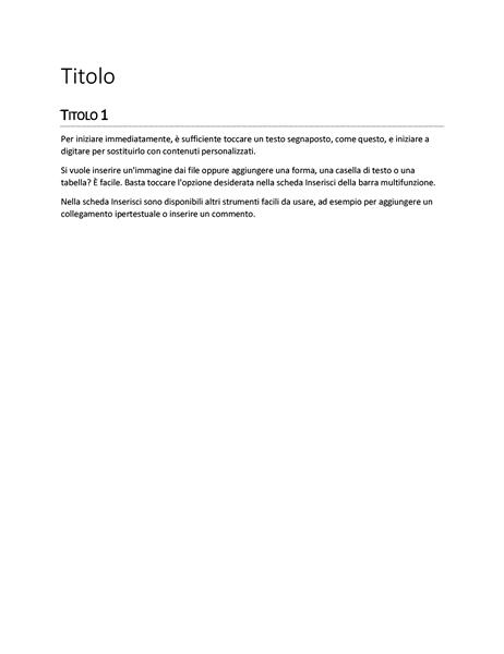 Modello Relazione (vuoto)