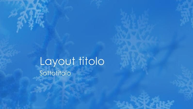 Diapositive con schema Fiocchi di neve