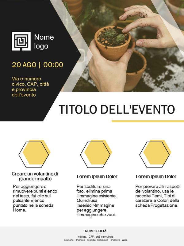 Volantino aziendale piccolo (design dorato)