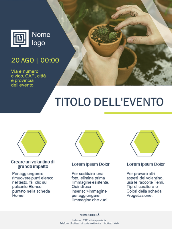 Volantino aziendale piccolo (design verde)