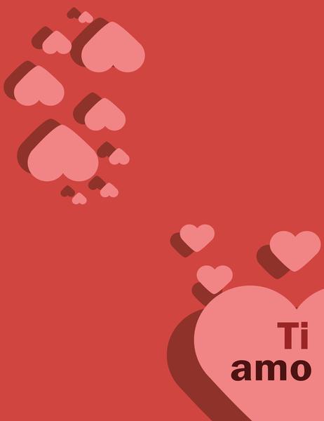 Biglietto d'amore (quattro facciate)