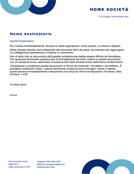 Carta intestata (design Arco)