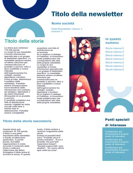 Newsletter commerciale (progettazione arco, 4 pagine)