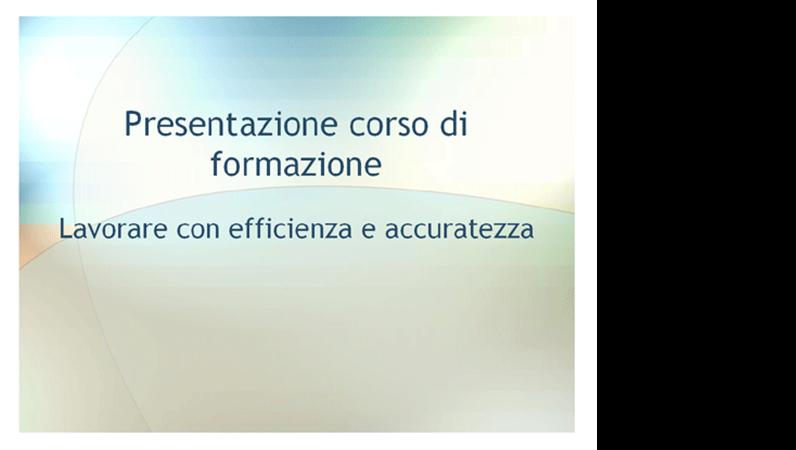 Presentazione seminario di formazione