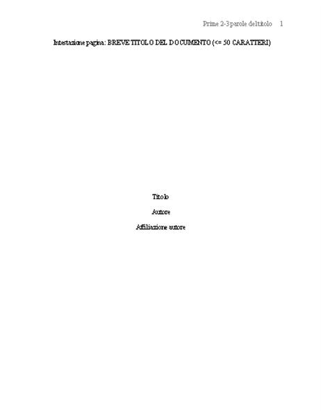 Formato documento APA