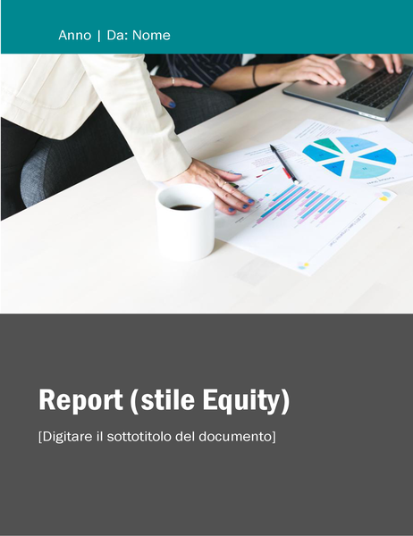 Rapporto (tema Equità)