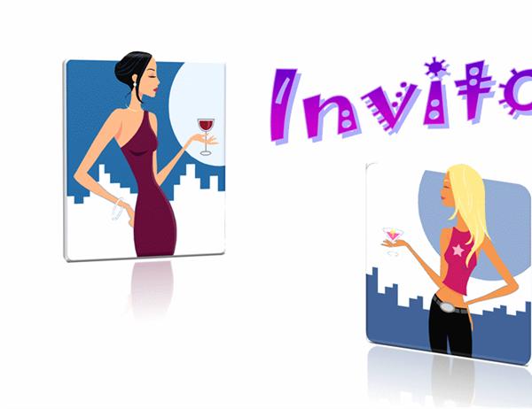 Cartolina Invito (10x15, notturno, fronte retro)