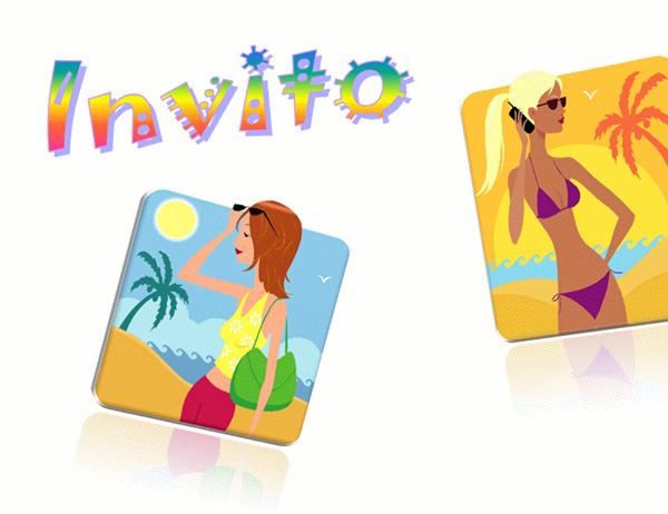Cartolina Invito (10x15, arcobaleno, fronte retro)