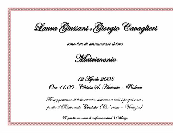 Invito per Matrimonio (A5)
