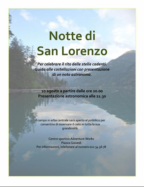Volantino Notte di San Lorenzo