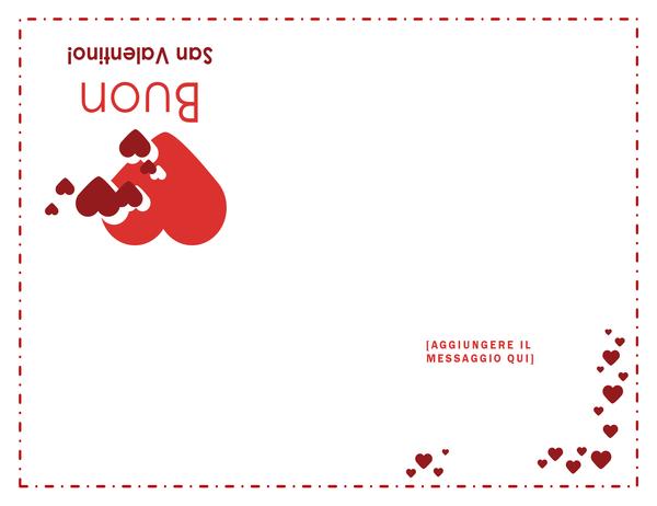 Bigliettino di S. Valentino (quattro facciate)