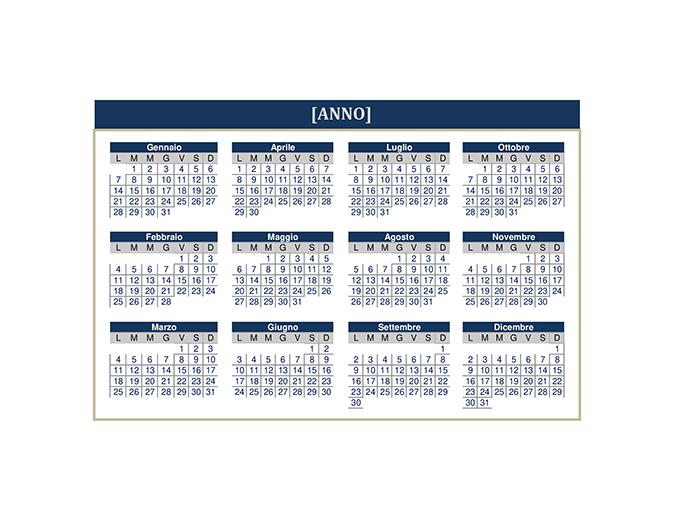Calendario (qualsiasi anno)