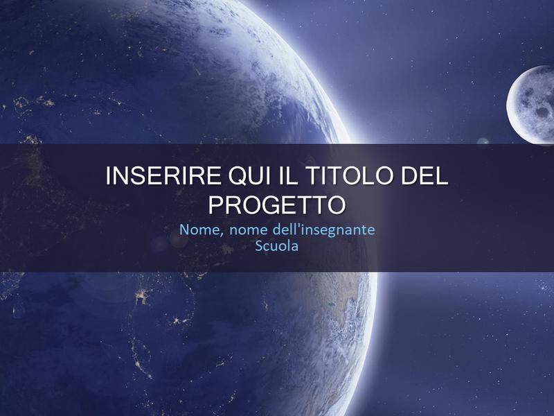 Progetto scolastico sul sistema solare