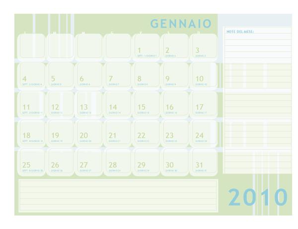 Calendario Giuliano 2010 (lun-dom)