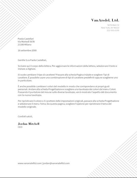 Carta intestata Righe