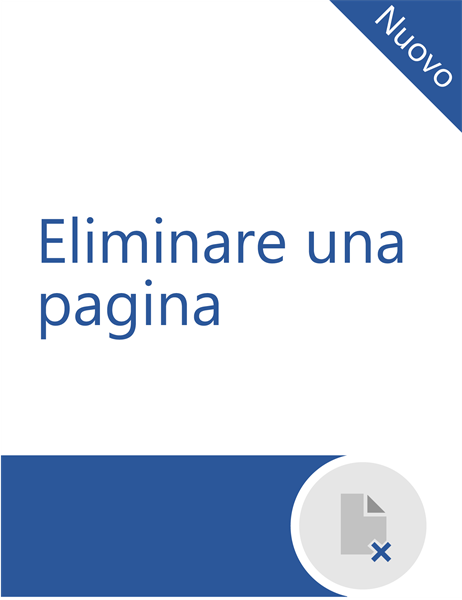 Eliminare una pagina in Word