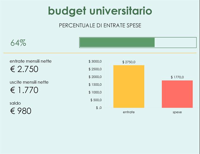 Budget università